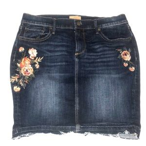 SOLD OUT KATE DRIFTWOOD DENIM SKIRT FREE PEOPLE